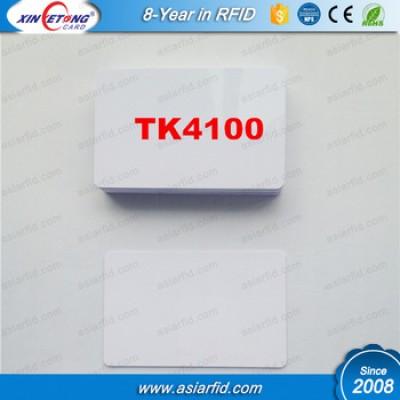 White TK4100 PVC Door Control Entry Access Card EM/ID Card