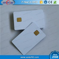 Blank PVC contact chip card, printable white plastic card with SLE5528