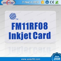 China RFID Chip Card /Smart Card with FM11RF08/ PVC Inkjet Blank Chip Card