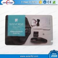 ISO14443 125Khz TK4100 Custom plastic printable rfid card with magnetic strip