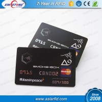 Full color set printing plastic card with TK4100 CR80 Business card size