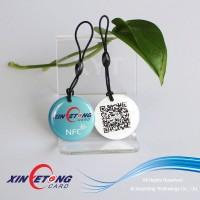 Top quality waterproof QR tag/NFC Pet ID tag / Logo printing NFC PET ID Tag