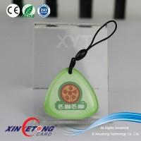 Laser round shaped custom logo QR Cde Pet Tag / QR printing Laser Round shaped Epoxy tags