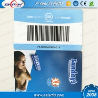 NTAG213 RFID PVC Card with Barcode / QR