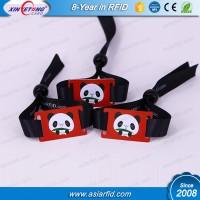 RFID Fabric Wristband for Event RFID 180bytes NTAG213 fabric Wristband