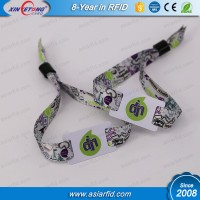 13.56Mhz Ultralight Woven Wrist Band for Events Cheap ID bracelet