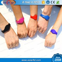 Logo Printable Silicone Wristband 125khz Hitag1256Bits Moistureproof RFID Wristband