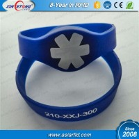 Screen printing 65mm NFC Wristband NATG213 188Bytes for Payment terms